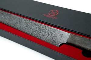 "Nine Fingers Forge ""Brisket Slicer"" Etched Damascus Steel"