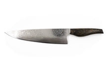 "Load image into Gallery viewer, Nine Fingers Forge ""Chefs Knife"" Polished Damascus Steel"