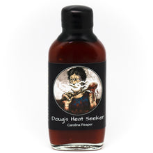 "Load image into Gallery viewer, Dirty Dougs ""Heat Seeker"" Hot Sauce 100ml"