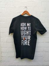 "Load image into Gallery viewer, The Que Club ""Start Your Fire"" T-Shirt"
