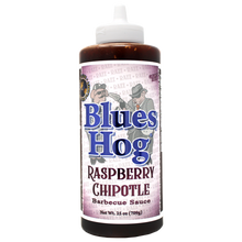 "Load image into Gallery viewer, Blues Hog ""Raspberry Chipotle"" BBQ Sauce - 709g Squeeze Bottle"