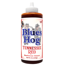 "Load image into Gallery viewer, Blues Hog ""Tennessee Red"" BBQ Sauce - 652g Squeeze Bottle"