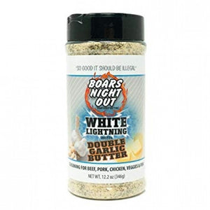 "Boars Night Out ""White Lightning Double Garlic Butter"" Rub Shaker"