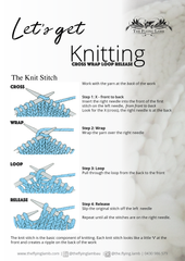 Learn to Knit instruction by The Flying Lamb