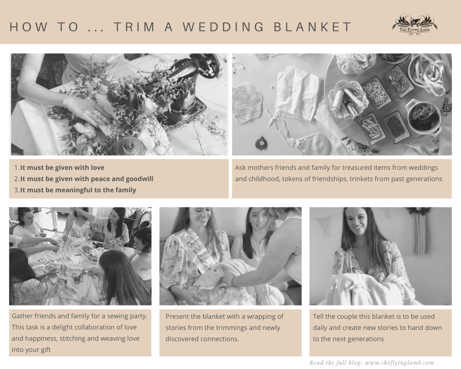 How to ... trim a wedding blanket