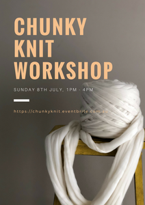 Chunky Knit Blanket Workshop: Full Day (Melbourne) (date to be advised)