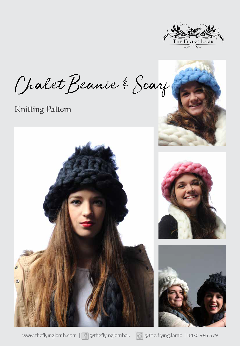 Chalet Scarf and Beanie Pattern