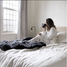 The Melbourne - Soft, luxurious chunky knit blanket by The Flying Lamb. Handmade from 100% premium Australian Merino wool, hand knitted on the Mornington Peninsula Australia. Let's get cosy ...perfect birthday gift for mum
