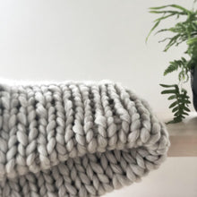 Soft, luxurious chunky knit blanket by The Flying Lamb. Handmade from 100% premium Australian Merino wool, hand knitted on the Mornington Peninsula Australia. Let's get cosy ...perfect birthday gift for mum