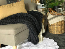Charcoal chunky knit, king size - pre-order yours today