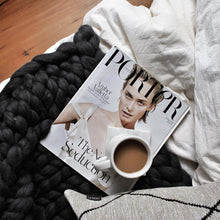 The Melbourne - Soft, luxurious chunky knit blanket by The Flying Lamb. Handmade from 100% premium Australian Merino wool, hand knitted on the Mornington Peninsula Australia. Let's get cosy ...perfect birthday gift for daughter