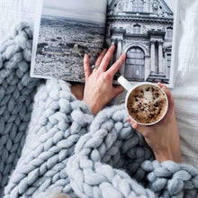 Soft, luxurious chunky knit blanket by The Flying Lamb. Handmade from 100% premium Australian Merino wool, hand knitted on the Mornington Peninsula Australia. Let's get cosy ...