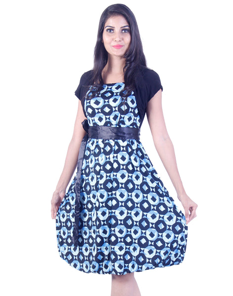 Blue elliptical patterns Fusion wear