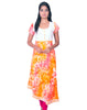 Orange Printed Pure Rayon and Cotton Hakoba Anarkali Kurti from Joshuahs