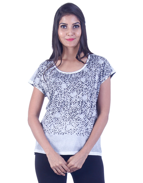 Black and grey Dotted Tshirt