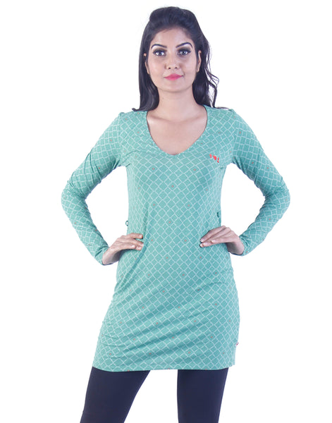 Pale green dotted Long tunic