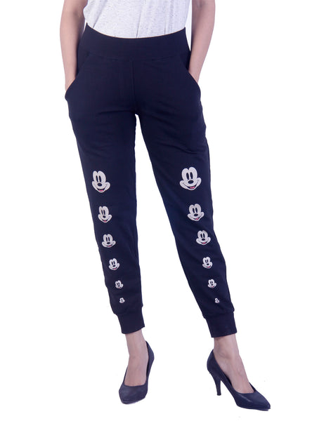 Mickey printed Black jeggings