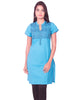 Turquoise Blue South Cotton Dobby Kurti from Joshuahs