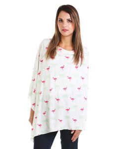 Flamingo Nursing Poncho