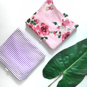 Lilac and White Stripes Nursing Poncho