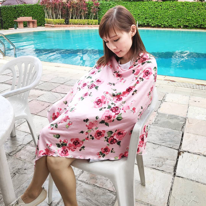 Damask Rose Nursing Poncho