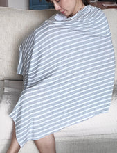 Lt Grey Mid-Striped Nursing Poncho