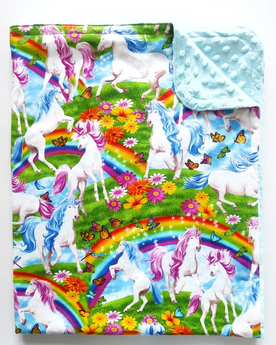 Rainbows & Unicorns Cloud Blanket