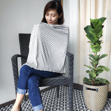 Hearts on Grey Nursing Poncho