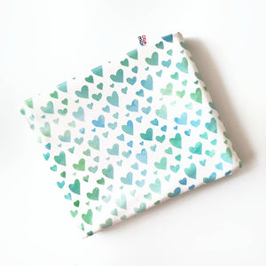Eco Series Minty hearts Nursing Poncho