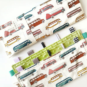 Buses Beansprout Husk Pillow *Organic Cotton*