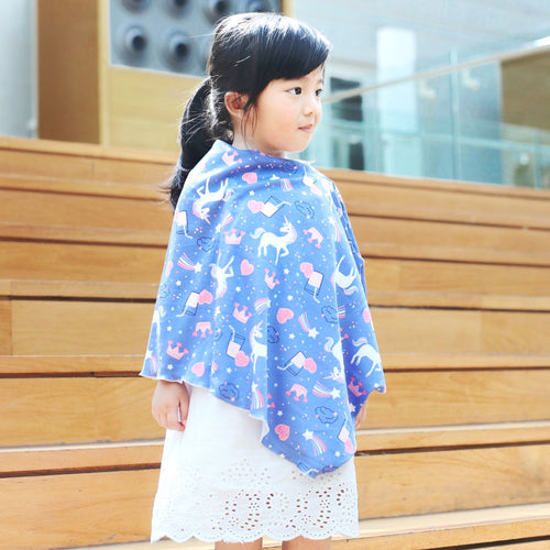 Unicorn Children's Poncho (Cotton blend)