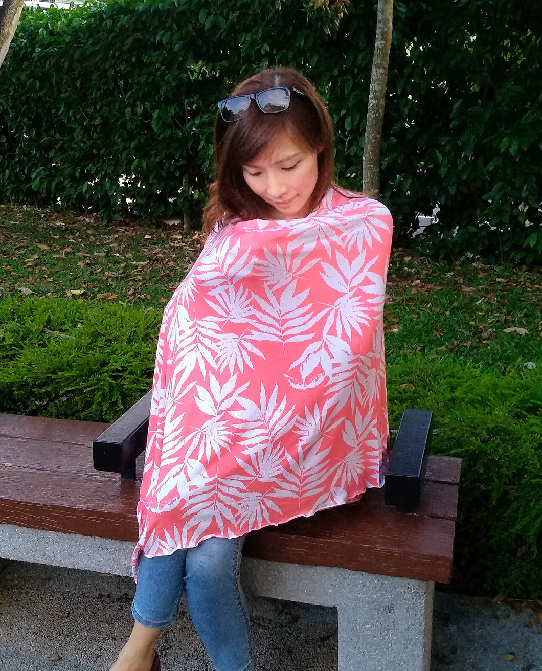 Coral Leaves Nursing Poncho