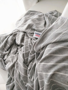 Light Grey Stripe Nursing Poncho