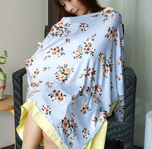 Baby blue floral Nursing Poncho