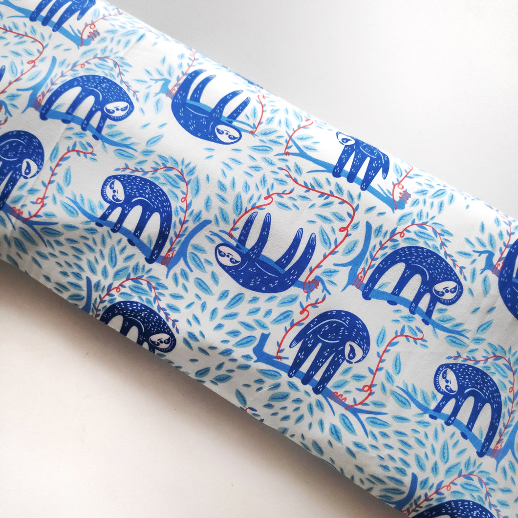 Blue Sloth Beansprout Husk Pillow