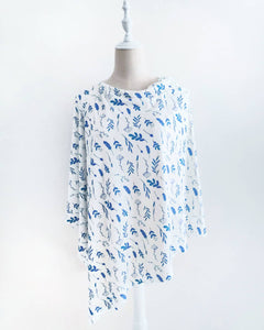 (New) Eco Blue Foliage Nursing Poncho