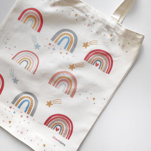 Boho Rainbow Tote Bag ( eco series)