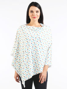 Piper Triangles  (COTTON SPANDEX) Nursing Poncho