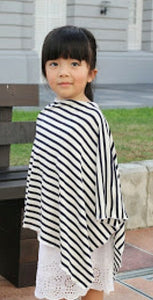 Slim Black & White Children's Ponchos (Rayon Spandex)