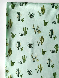 Cactus on Mint (RAYON SPANDEX) Nursing Poncho