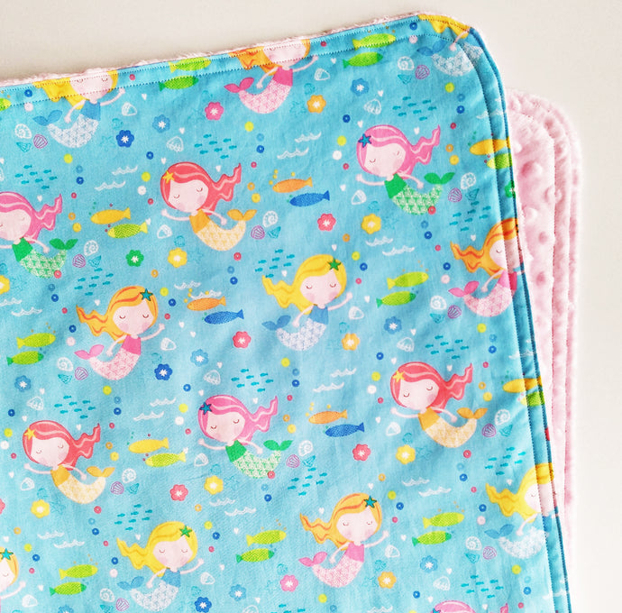 Small Mermaids Cloud Blanket