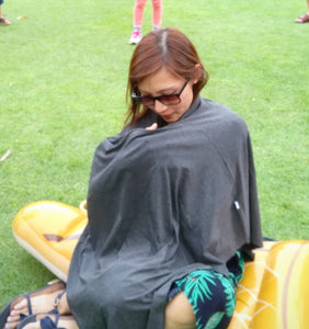 Dark Graphite Grey Nursing Poncho