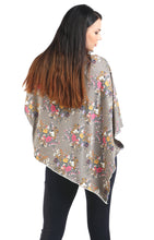 Earl Grey Floral Nursing Poncho(Cotton Spandex)