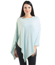 Misty Light Blue Nursing Poncho