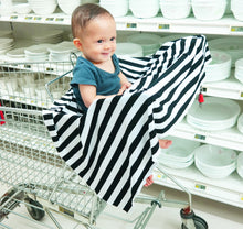 Black & White Stripes Nursing Poncho