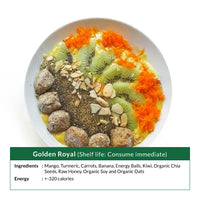 Golden Royal Smoothie Bowl (Shelf life: Consume immediate)