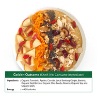 Golden Oatsome Smoothie Bowl (Shelf life: Consume immediate)