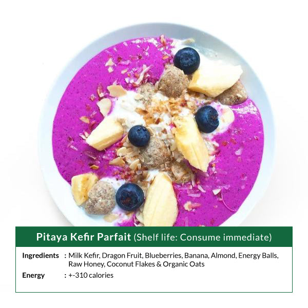 Pitaya Kefir Parfait Smoothie Bowl