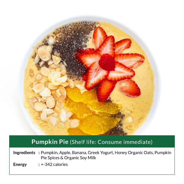 Pumpkin Pie Smoothie bowl