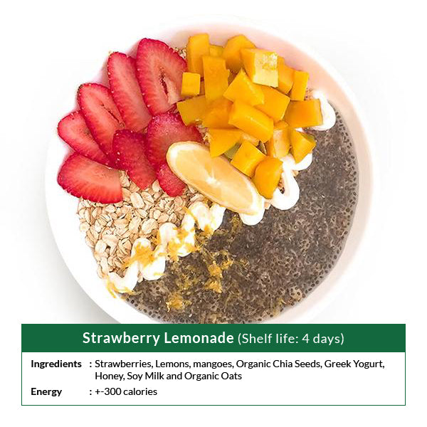 Strawberry Lemonade (Shelf life: 4 days)